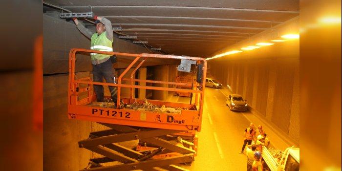 Seka Tüneli'ne gün ışığına duyarlı yeni aydınlatma sistemi