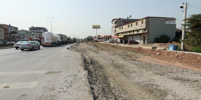 Köseköy Kavşağı'nın Kuzey Yan Yolu yapılıyor