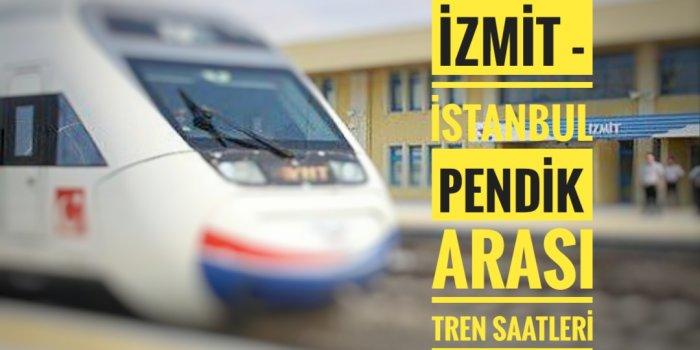 Sakarya -İzmit - Pendik Arası Tren Saatleri