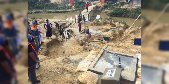 İSU, Bangladeş' Te Arakan Mülteci Kampında Su Kuyuları Açtı