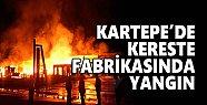 Kartepe'de kereste fabrikasında yangın