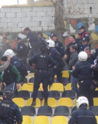 Kocaelispor ile Tekirdağsporlu Taraftarlar Birbirine Girdi