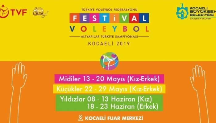 Kocaeli'de Dev Voleybol Festivali Başlıyor