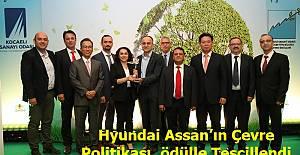 Hyundai Assan'ın Çevre Politikası, ödülle Tescillendi