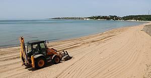 Kandıra plajlarında bakım ve temizlik...