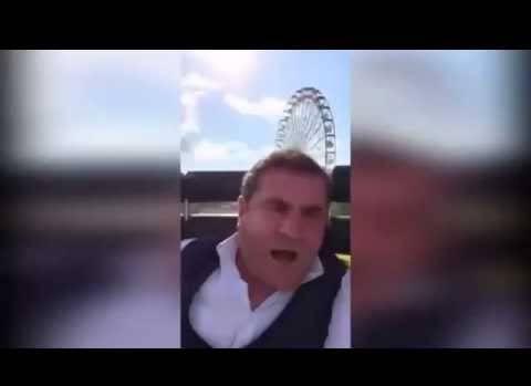 """Kocaeli Fuarında """"Twister Coaster"""" a ilk kez binen Abimiz.."""